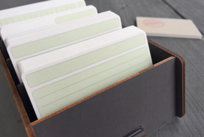 Grey wooden Werkhaus business and note card box