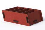 Rood kaartenbakje van Werkhaus voor notitiekaartjes of visitekaartjes