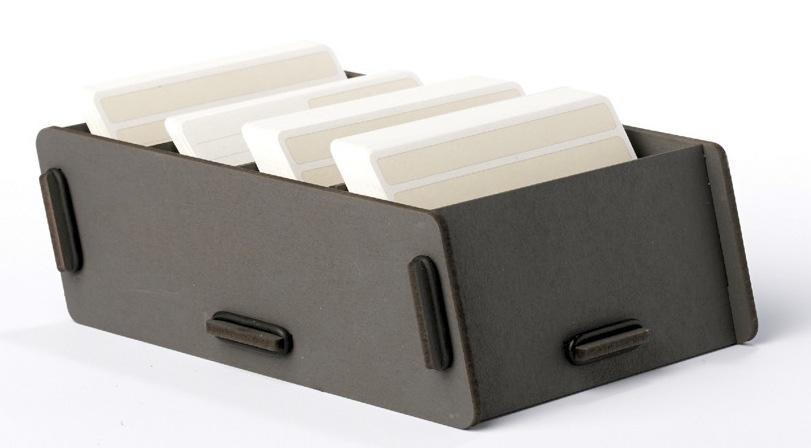 Duurzaam grijs kaartenbakje van Werkhaus voor op je bureau