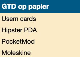 usem-kaartjes op GTD-startpagina