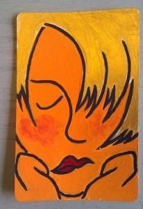 Schilderij van Ardy Kroes op een usem-kaartje