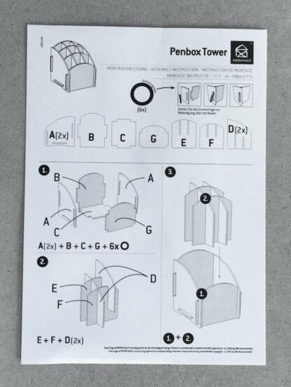 Assembly instructions penbox tower Werkhaus