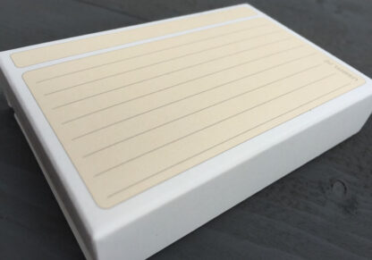 Paper box of 50 ruled usem note cards