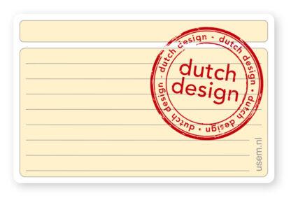 Dutch design usem note card Field plus