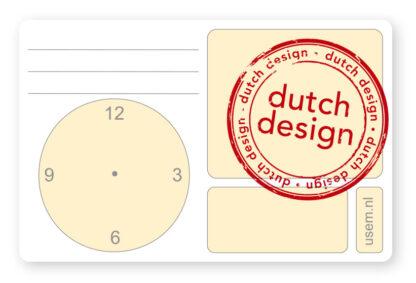 Dutch design usem note card Time
