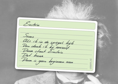 Gedicht over Einstein