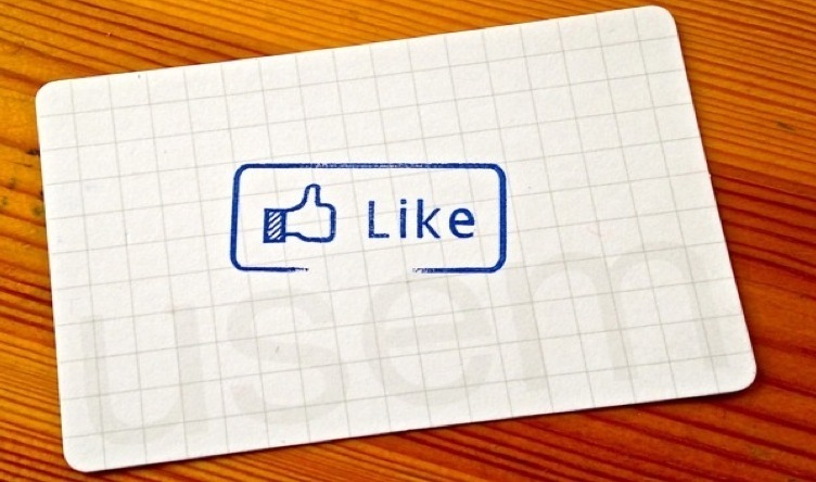 achterkant usem-kaartje als stempelkaartje met facebook like logo