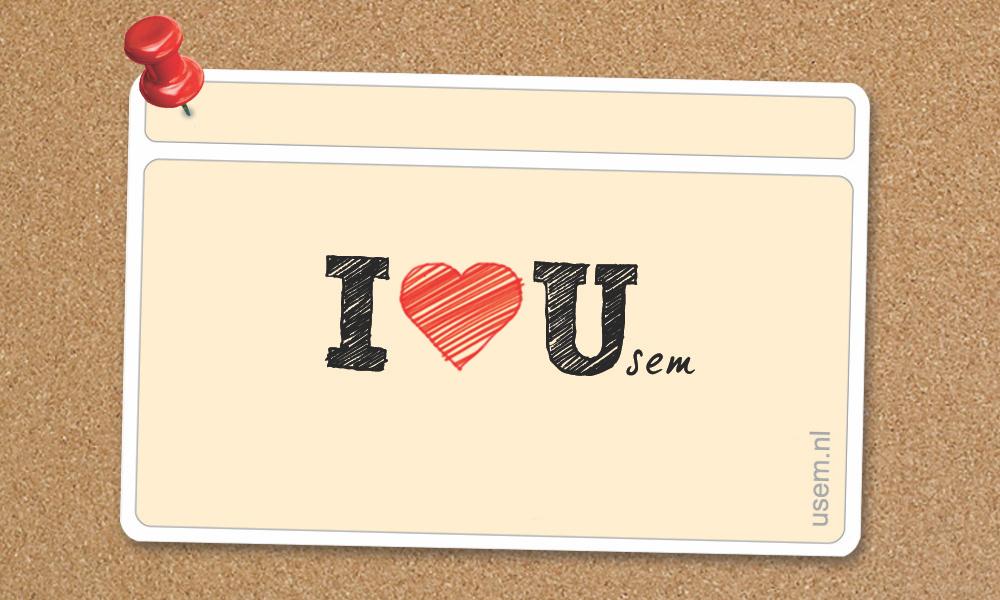 I love usem note cards