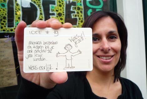usem-kaartje als ideeënkaartje