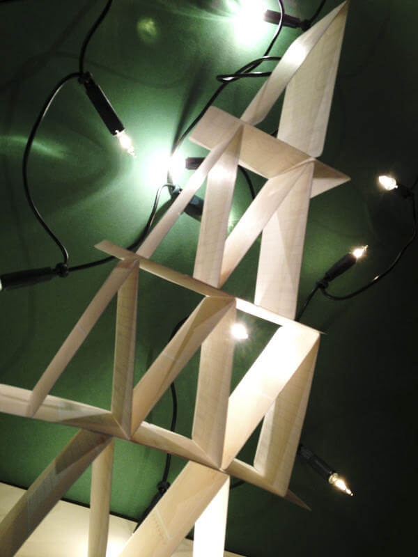 Originele kerstboom van papier