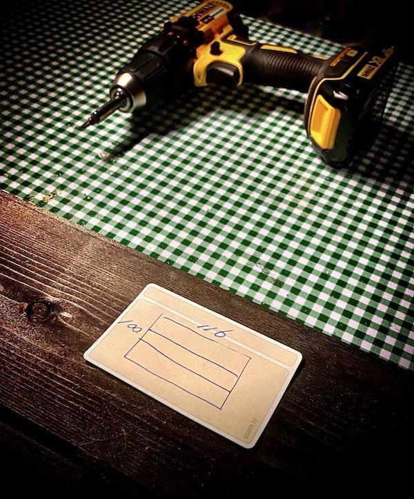 Klustekening op kaartje - Janny Dekker
