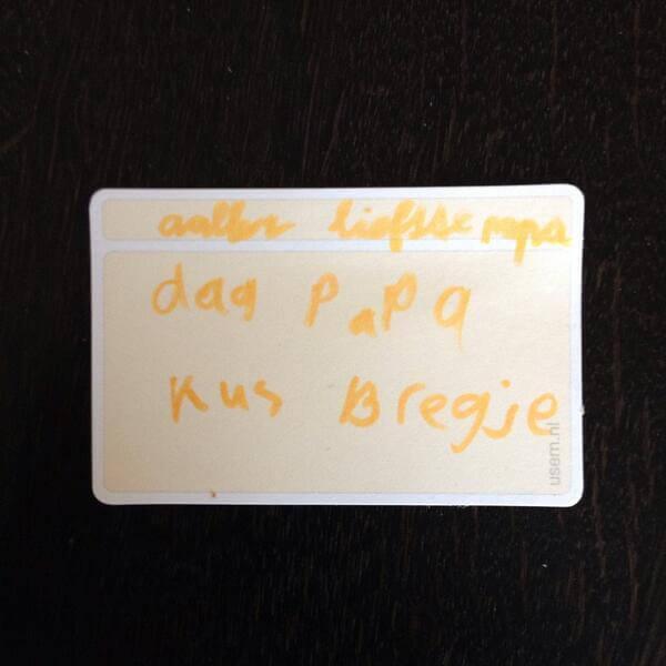 Gebruikte usem notitiekaartjes. Handwritten usem note cards.