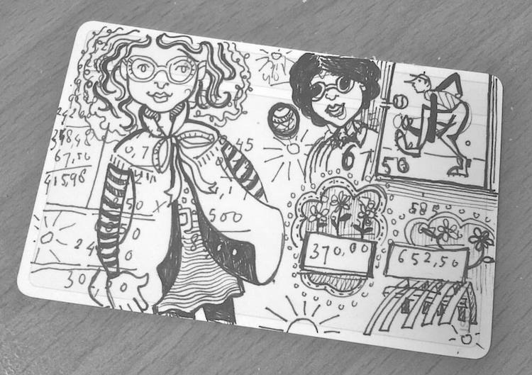 usem-notitiekaartje als doodlekaartje