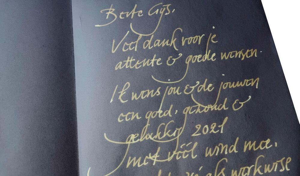 Mooi handschrift