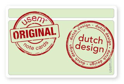 Original usem note cards - dutch design