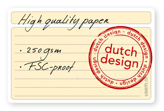 Premium high quality paper note cards