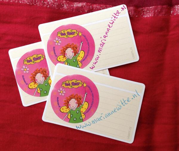 usem-kaartjes met roze stickers