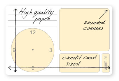 Small rounded corner appointment cards - high quality paper