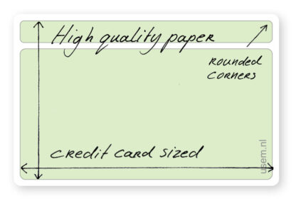Blank rounded corner note cards - high quality paper
