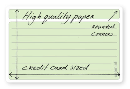 Small lined rounded corner note cards - high quality paper