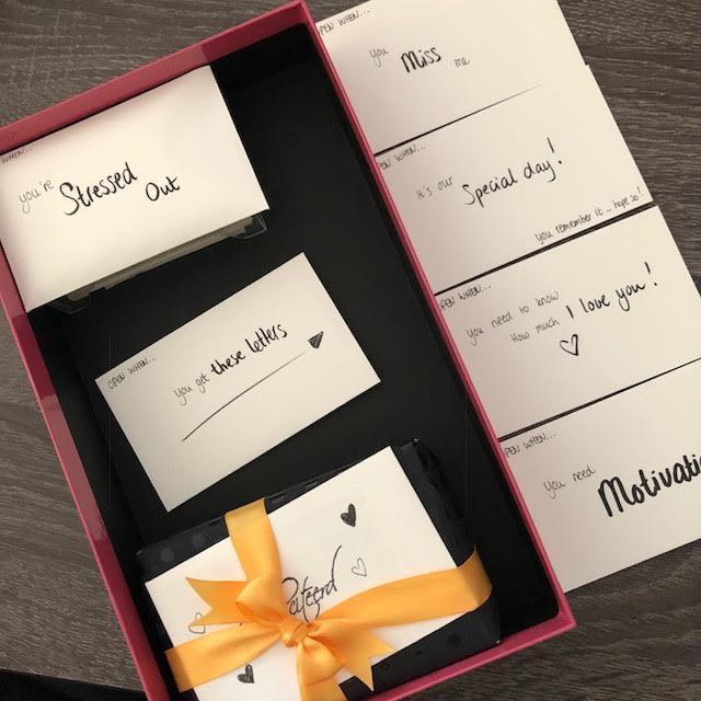 Small handwritten envelopes
