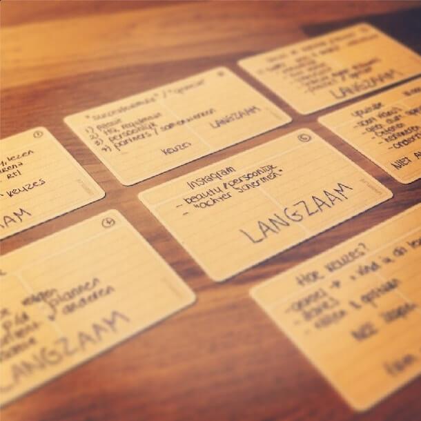 usem-notitiekaartje als spiekbriefjes en spiekkaartjes