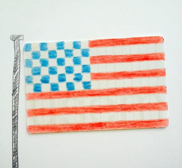 Tekening van Amerikaanse vlag