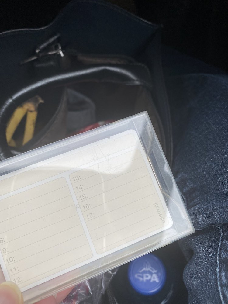 Usem note cards on the road