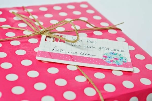 usem-kaartje als zelfgemaakt cadeaukaartje