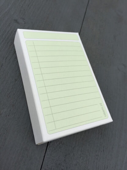 High quality paper box of 50 green to do cards