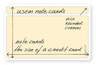 coloured blank rounded corner usem note cards