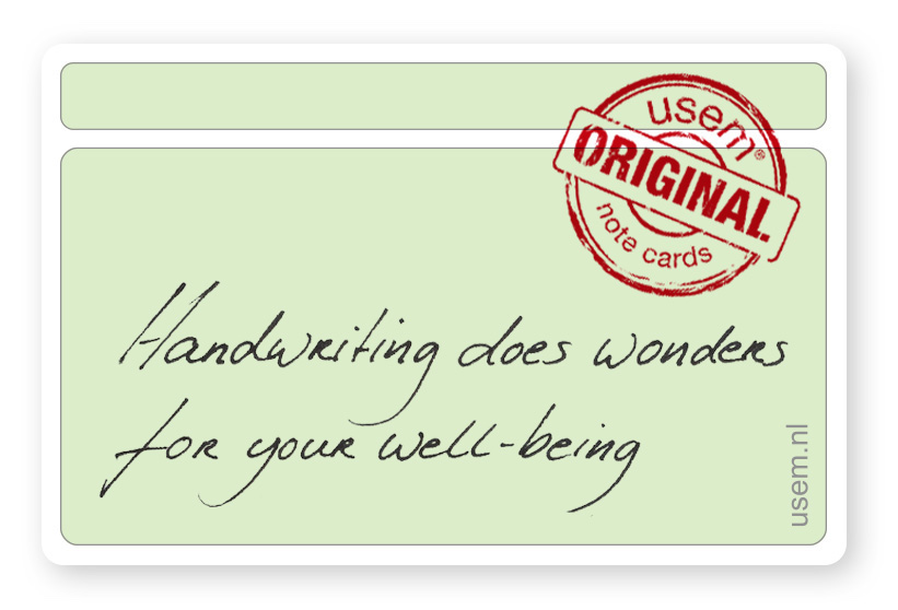handwriting does wonders for your well-being