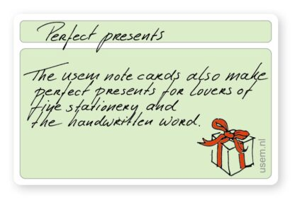 usem note cards for lovers of handwriting