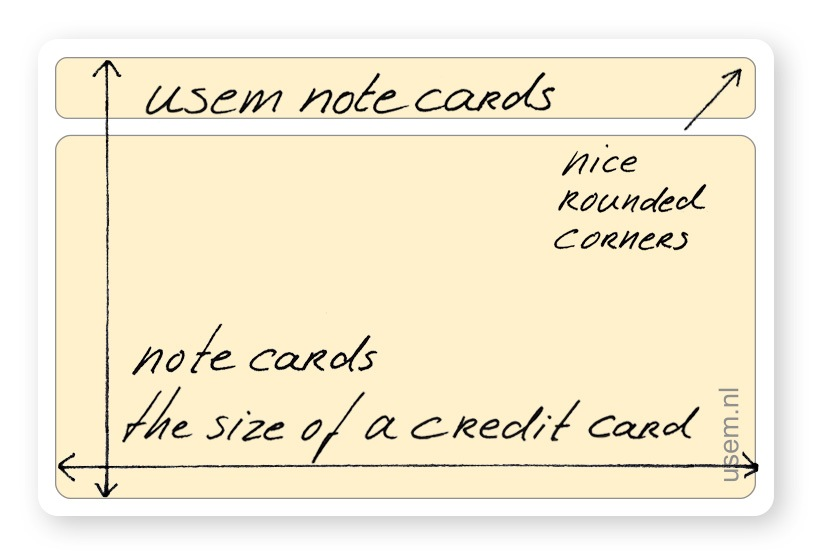 yellow plain small usem note card, index card or flash card