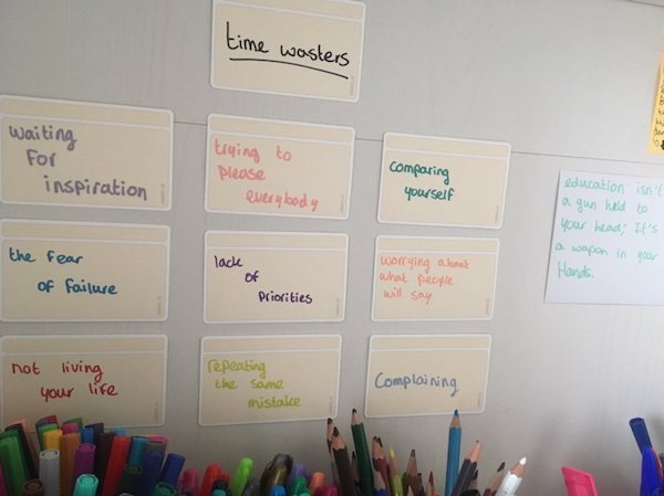 Kaartjes gebruiken in een brainstormsessie