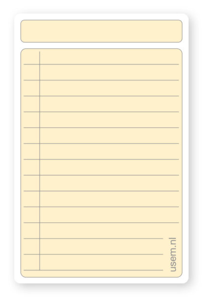 Coloured high quality paper note cards with lines
