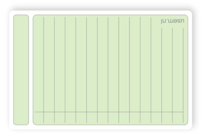 Nice quality rounded corner note cards with lines and squared pattern