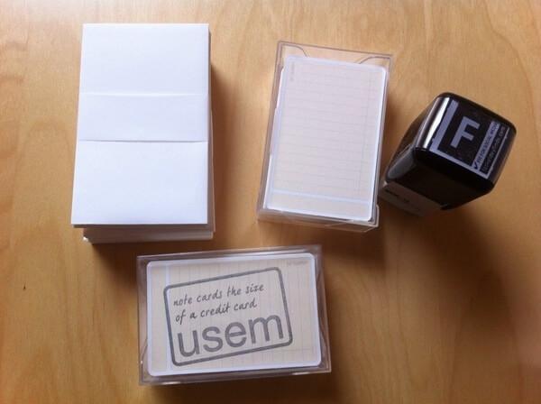 usem-notitiekaartjes als stempelkaartjes